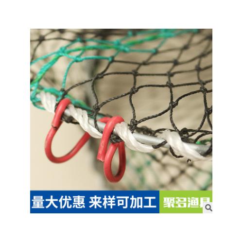 龙虾螃蟹笼 厂家直销网丝编制螃蟹龙虾养殖网垂钓弹簧鱼护 螃蟹笼