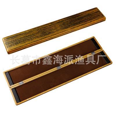 拉丝黄单层木制子线盒 桐木鱼漂盒定制 LOGO激光刻字主线子线盒