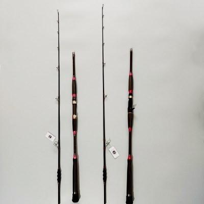 铁板慢摇船竿 海钓枪柄直柄路亚钓鱼竿碳素海船钓1.98米120号浅海