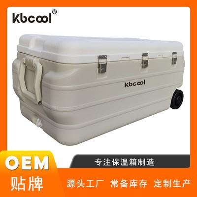 大容量170L升配轮子钓箱户外渔具海钓冷链拉杆保温箱冷藏箱PU