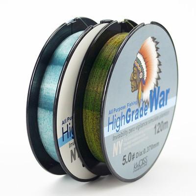 厂家直销 120米斑点线鱼线子线主线尼龙线黑坑钓鱼线批发跨境专供