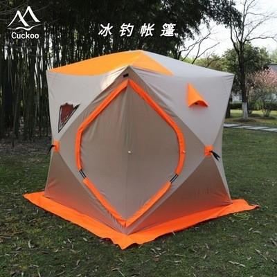 全自动速开保暖帐篷户外3-4人加厚加棉保温防风御寒冬季冰钓帐篷