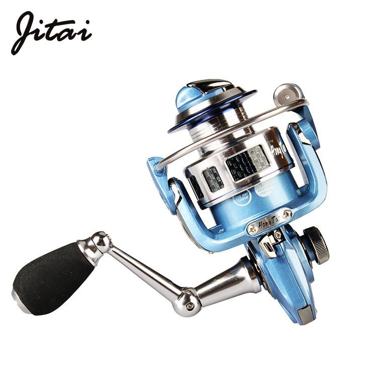 吉泰HK12+1轴全金属双线杯渔轮鱼线轮纺车轮海竿轮路亚矶钓竿轮