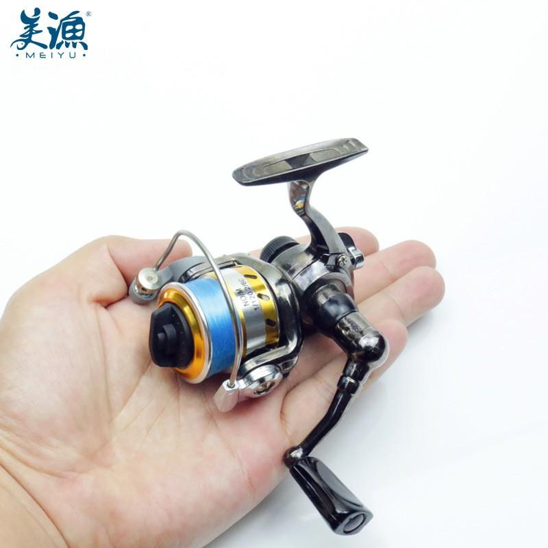 美渔 全金属mini迷你小纺车轮 小抛杆轮鱼线轮渔轮冰筏钓摇轮M100